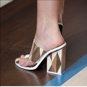 Tory Burch Geometric Wooden Heels